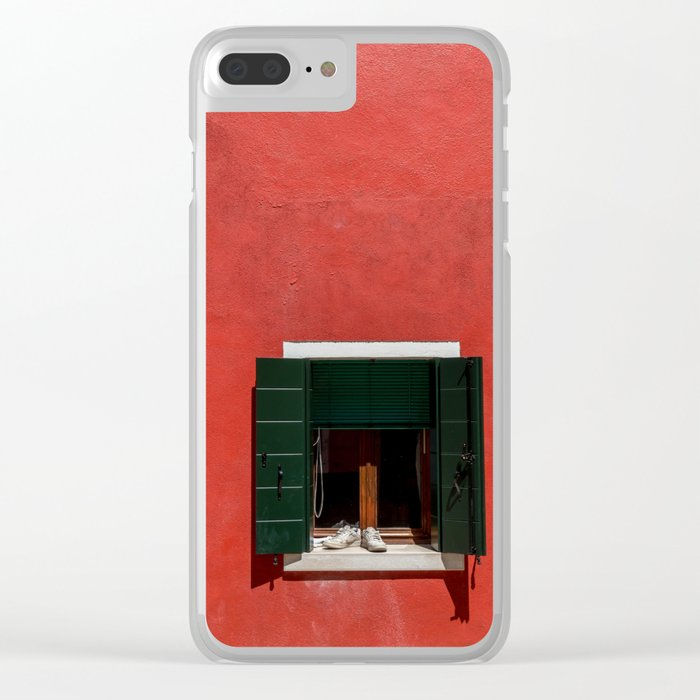 Sunny sneakers, Burano Italy Clear iPhone Case