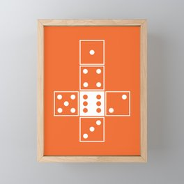 Orange Unrolled D6 Framed Mini Art Print