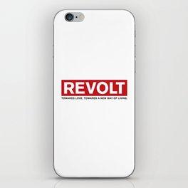 Revolt: Towards Love. Towards A New Way of Living. (Black) iPhone Skin