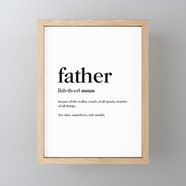 Father Definition Framed Mini Art Print