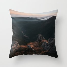 Evening Mood - Landscape and Nature Photography Throw Pillow