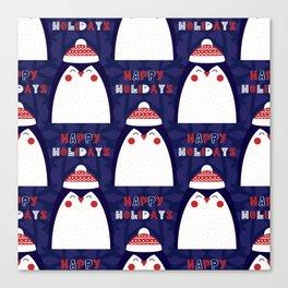 Merry Penguin Canvas Print