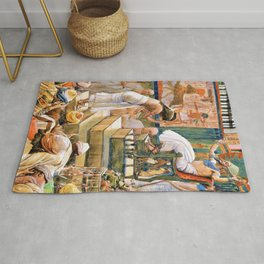 Joseph and His Brethren Welcomed by Pharaoh - Digital Remastered Edition Rug