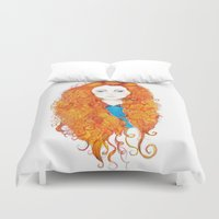brave Duvet Covers featuring Brave by FeliciaR