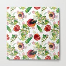 grapes and peaches Metal Print