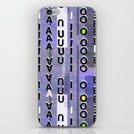 Indigo Vowels iPhone Skin
