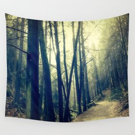 in the forest dark and shaded Wall Tapestry