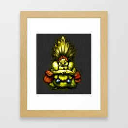 Chief Sitting Feather Framed Art Print