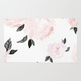 Vintage Blush Floral - BW Rug