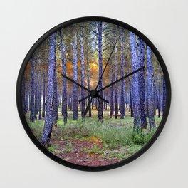 Mistery trees Wall Clock