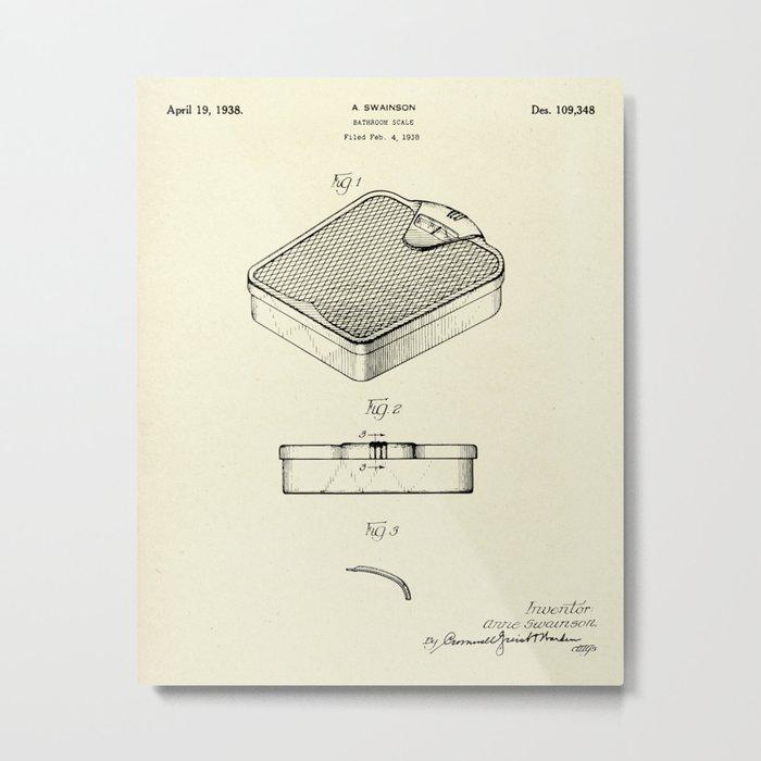Bathroom scale-1938 Metal Print