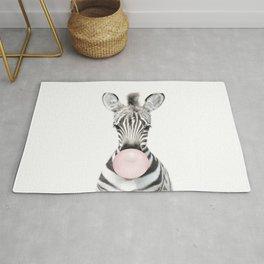 Bubble Gum Zebra Rug