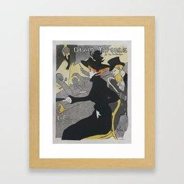 Divan Japonais, 1892 H. T. Lautrec Framed Art Print
