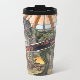 When Dinosaurs Ruled the Earth - Jurassic Park T-Rex Metal Travel Mug