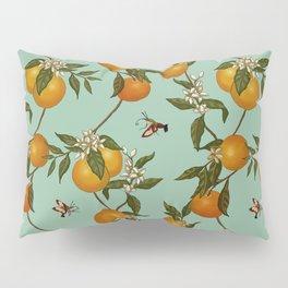 Orange Pattern I Pillow Sham