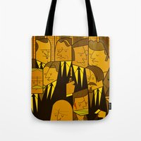 reservoir dogs Tote Bags featuring Reservoir Dogs by Ale Giorgini