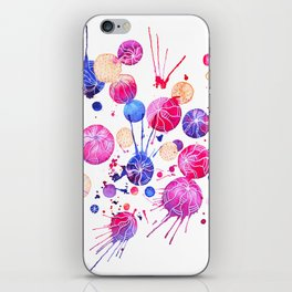 Colored watercolor circle composition. iPhone Skin