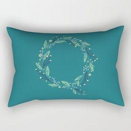 Turquoise flowers alphabet Q Rectangular Pillow