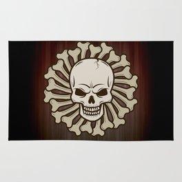 Angry skull Rug