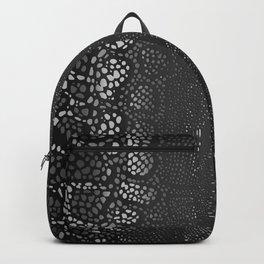 Black Snake Skin Backpack