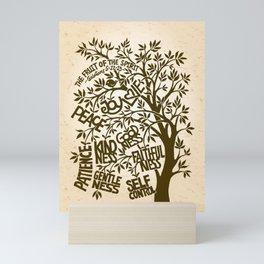 Fruit of the Spirit (Monotone) Mini Art Print