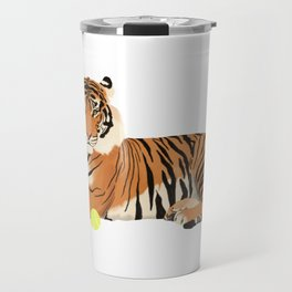 Tennis Tiger Travel Mug
