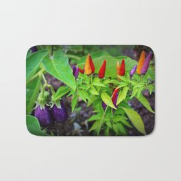 Colorful Peppers Bath Mat