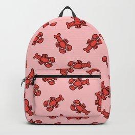Lobster Pattern on Light Pink Backpack