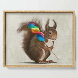 Squirrel with lollipop Serving Tray