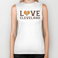 cleveland Biker Tanks featuring LUV Cleveland by C. Wie Design