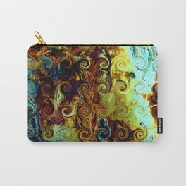 Colorful Wood Spirals Background #Abstract #Nature Carry-All Pouch