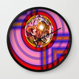 Round Peg round Hole Wall Clock