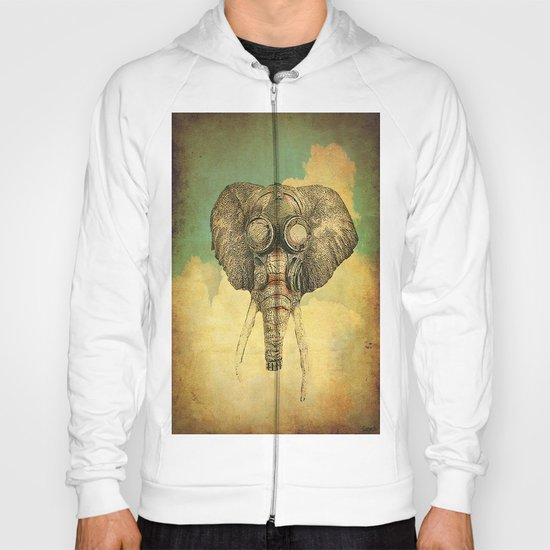 Gas mask for elephant Hoody