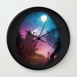 Young Astronomer Wall Clock