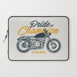 Classic Motorcycle Club Illustration Laptop Sleeve