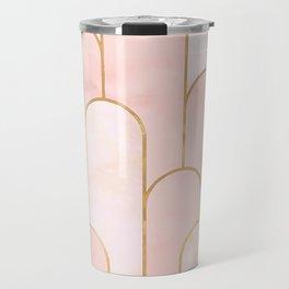 Arch Deco Pink Travel Mug