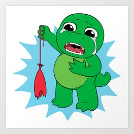 Little Dinosaur, Big Feelings (Pop) Art Print