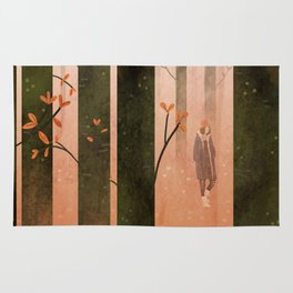 a forest Rug