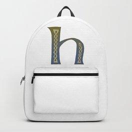 Celtic Knotwork Alphabet - Letter H Backpack