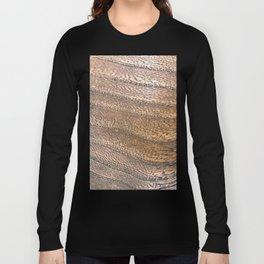 Warm Waved Wood Long Sleeve T-shirt
