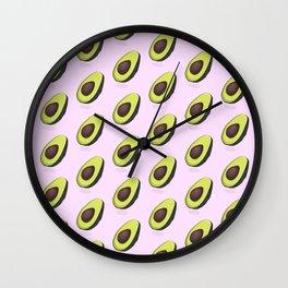 Avocado organic print Wall Clock