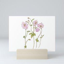 Pink Anemone Mini Art Print