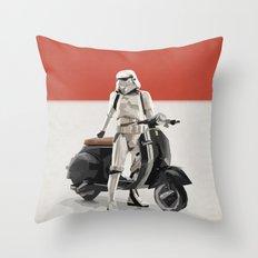 Vespa Troooper Throw Pillow