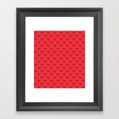 Raspberry Moose Framed Art Print