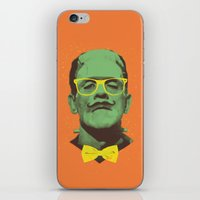 frank iPhone & iPod Skins featuring Mr Frank by Victor Vercesi
