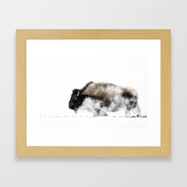 Bison in a Yellowstone Winter Framed Art Print