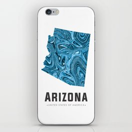 Arizona - State Map Art - Abstract Map - Blue iPhone Skin