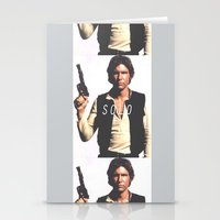 han solo Stationery Cards featuring Han / Solo by Earl of Grey