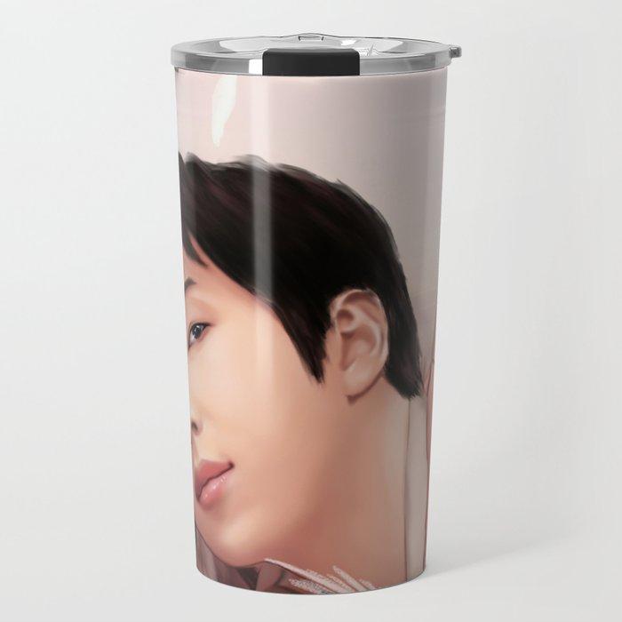 BTS RM LOVE YOURSELF FANART Travel Mug
