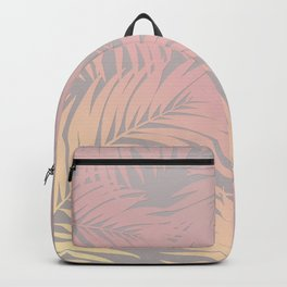 Palm Tree Fronds Peach on Soft Grey Hawaii Tropical Décor Backpack